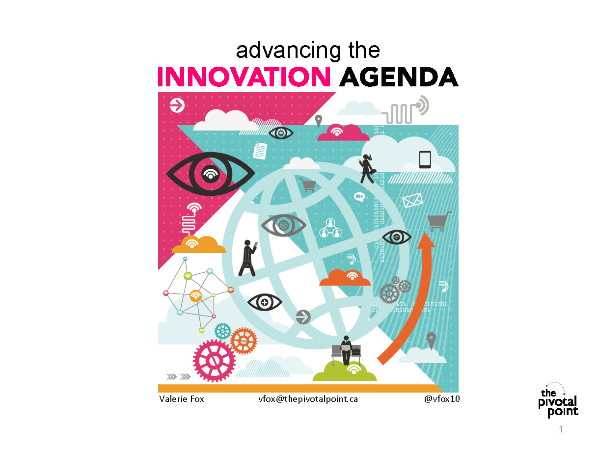 Advancing the Innovation Agenda - Valerie Fox - Cover